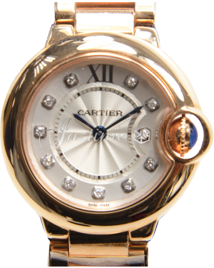 CARTIER WE902025 BALLON BLUE DE 28mm PINK GOLD BRAND NEW