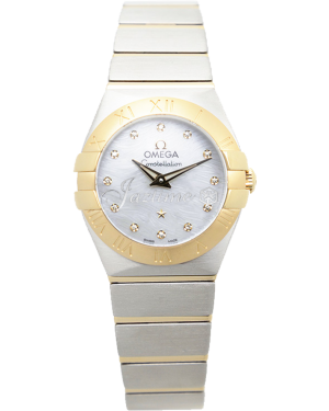 Omega 123.20.24.60.55.008 Constellation Quartz 24mm Steel And Yellow Gold BRAND NEW