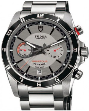 Tudor Grantour Chronograph Fly-Back 20550N-95730 Silver Index Stainless Steel 42mm BRAND NEW