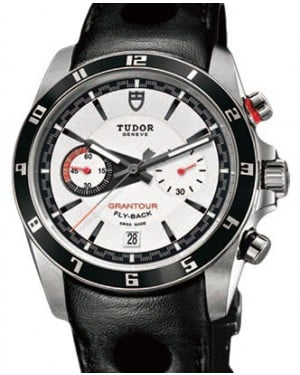Tudor Grantour Chronograph Fly-Back 20550N White Index Stainless Steel & Leather 42mm BRAND NEW