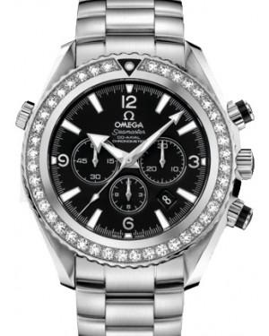 Omega 222.15.46.50.01.001 Planet Ocean 600M Co-Axial 45.5mm Black Diamond Bezel Stainless Steel BRAND NEW