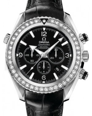 Omega 222.18.46.50.01.001 Planet Ocean 600M Co-Axial 45.5mm Black Diamond Bezel Stainless Steel Leather BRAND NEW