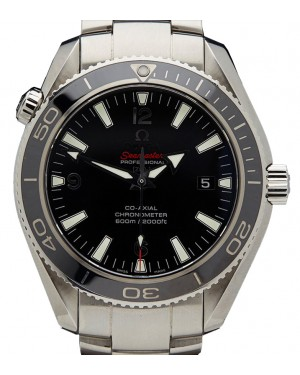 Omega 222.30.42.20.01.001 Planet Ocean 600M Co-Axial 42mm Black Arabic Stainless Steel BRAND NEW