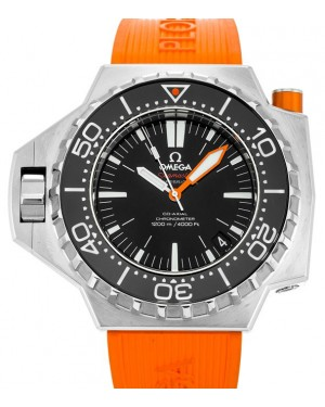 Omega 224.32.55.21.01.002 Seamaster Ploprof 1200M 55mm x 48mm Black Stainless Steel Orange Rubber BRAND NEW