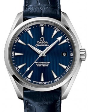 Omega Seamaster Aqua Terra 231.13.42.21.03.001 Blue Index 150 M Co-Axial Stainless Steel Leather 41.5mm - BRAND NEW
