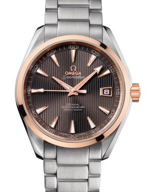Omega Aqua Terra 150M Co-Axial 231.20.42.21.06.002 41.5mm Teak-Grey Index Rose Gold Stainless Steel - BRAND NEW