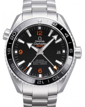 Omega 232.30.44.22.01.002 Planet Ocean 600M Co-Axial GMT 43.5mm Black Ceramic Red Stainless Steel - BRAND NEW