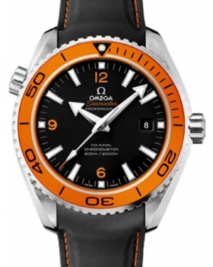 Omega 232.30.46.21.01.004 Planet Ocean 600M Co-Axial 45.5mm Orange Black Stainless Steel BRAND NEW