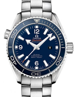 Omega 232.90.38.20.03.001 Planet Ocean 600M Co-Axial 37.5mm Blue Ceramic Titanium - BRAND NEW