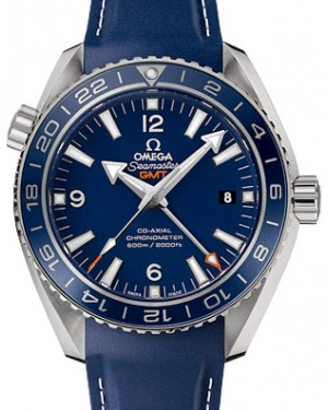 Omega 232.92.44.22.03.001 Planet Ocean 600M Co-Axial GMT 43.5mm Blue Ceramic Titanium Rubber - BRAND NEW