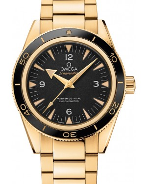 Omega 233.60.41.21.01.002 Seamaster 300 Master Co-Axial 41mm Black Arabic Index Yellow Gold BRAND NEW