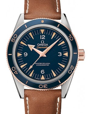 Omega 233.62.41.21.03.001 Seamaster 300 Master Co-Axial 41mm Blue Arabic Index Stainless Steel Leather BRAND NEW