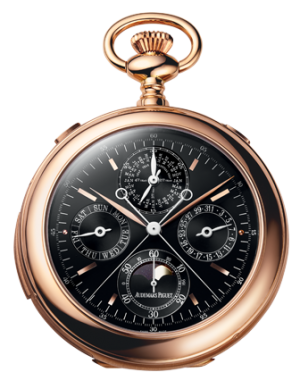 Audemars Piguet 25701OR.OO.000XX.03 Classique Pocket-Watch 52mm Black Index Rose Gold BRAND NEW