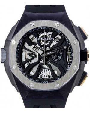 Audemars Piguet 26221FT.OO.D002CA.01 Royal Oak Concept Laptimer Michael Schumacher 44mm Openworked Forged Carbon Black Rubber BRAND NEW