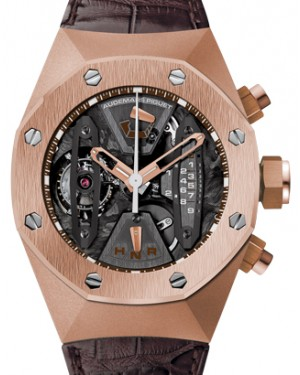 Audemars Piguet 26223OR.OO.D099CR.01 Royal Oak Concept Tourbillon Chronograph 44mm Openworked Rose Gold Leather BRAND NEW