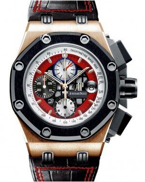 Audemars Piguet Offshore Rubens Barrichello III Rose Gold Red Dial 26284RO.OO.D002CR.01 - PRE-OWNED