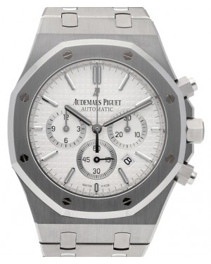 Audemars Piguet 26320ST.OO.1220ST.02 Royal Oak Chronograph 41mm Silver Index Stainless Steel BRAND NEW