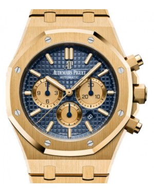 Audemars Piguet Royal Oak Selfwinding Chronograph 26331BA.OO.1220BA.01 Blue Index Yellow Gold 41mm - BRAND NEW