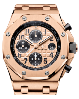 Audemars Piguet Royal Oak Offshore Champagne 42mm Rose Gold 26470OR.OO.1000OR.01 - BRAND NEW