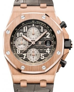 Audemars Piguet Royal Oak Offshore Selfwinding Chronograph 26470OR.OO.A125CR.01 Grey Arabic Rose Gold Leather 42mm BRAND NEW