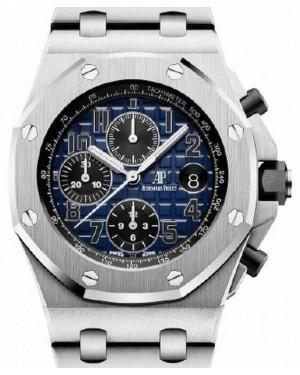 Audemars Piguet Royal Oak Offshore Selfwinding Chronograph 26470PT.OO.1000PT.02 Blue Arabic Platinum 42mm BRAND NEW
