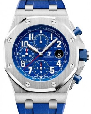 Audemars Piguet Royal Oak Offshore Selfwinding Chronograph 26470ST.OO.A030CA.01 Blue Arabic Stainless Steel Rubber 42mm BRAND NEW