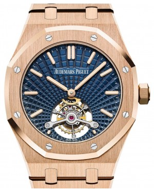 Audemars Piguet Royal Oak Tourbillon Extra-Thin 26522OR.OO.1220OR.01 Blue Index Pink Gold 41mm - BRAND NEW