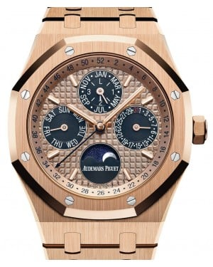 Audemars Piguet Royal Oak Perpetual Calendar 26584OR.OO.1220OR.01 Pink Index Pink Gold 41mm - BRAND NEW