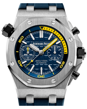 Audemars Piguet Royal Oak Offshore Diver Stainless Steel Chronograph 42mm Blue Index Yellow Dial 26703ST.OO.A027CA.01 - PRE-OWNED