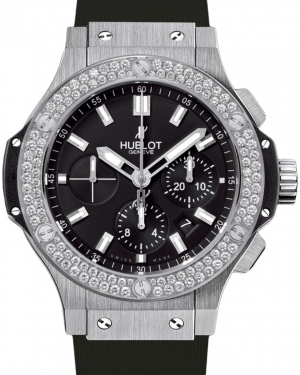 Hublot Big Bang 301.SX.1170.RX.1104 Black Index Diamond Bezel & Stainless Steel Case Rubber 44mm BRAND NEW