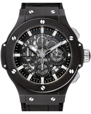 Hublot Big Bang Aero Bang 311.CI.1170.GR Skeleton Index Black Ceramic Case & Leather 44mm BRAND NEW