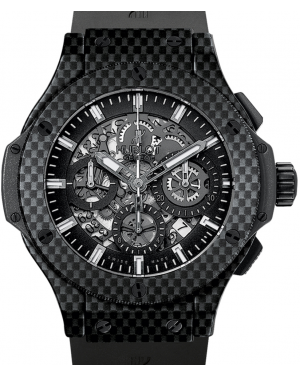 Hublot Big Bang Aero Bang 311.QX.1124.RX Skeleton Index Carbon Fiber & Rubber 44mm BRAND NEW