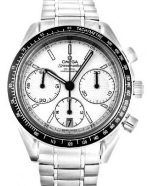 Omega 326.30.40.50.02.001 Speedmaster Racing Co-Axial Chronograph 40mm White Index Stainless Steel BRAND NEW
