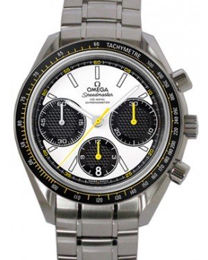 Omega 326.30.40.50.04.001 Speedmaster Racing Co-Axial Chronograph 40mm White Index Stainless Steel BRAND NEW