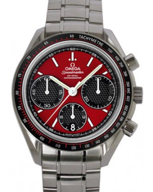Omega 326.30.40.50.11.001 Speedmaster Racing Co-Axial Chronograph 40mm Red Index Stainless Steel BRAND NEW