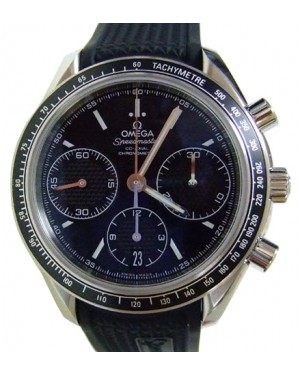 Omega 326.32.40.50.01.001 Speedmaster Racing Co-Axial Chronograph 40mm Black Index Stainless Steel Rubber BRAND NEW