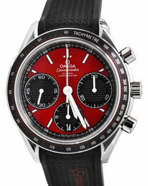 Omega Speedmaster 326.32.40.50.11.001 Racing Co-Axial Red Stainless Steel Rubber Chronograph 40mm BRAND NEW