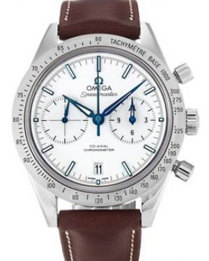 Omega 331.92.42.51.04.001 Speedmaster '57 Co-Axial Chronograph 41.5mm White Titanium Leather BRAND NEW