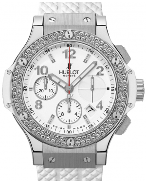 Hublot Big Bang 342.SE.230.RW.114 White Arabic Diamond Bezel & Stainless Steel Case Rubber 41mm BRAND NEW