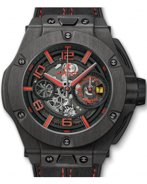 Hublot Big Bang Unico Ferrari 402.QU.0113.WR Skeleton Red Arabic Black Carbon Case & Leather 45mm BRAND NEW