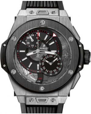 Hublot Big Bang Alarm Repeater 403.NM.0123.RX Skeleton Dial Black Ceramic Bezel & Titanium Case Rubber 45mm BRAND NEW