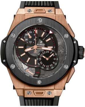 Hublot Big Bang Alarm Repeater 403.OM.0123.RX Skeleton Dial Black Ceramic Bezel & Rose Gold Case Rubber 45mm BRAND NEW