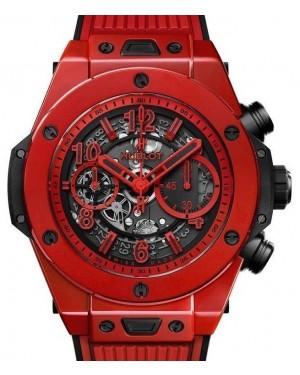 Hublot Big Bang Unico Chronograph Red Magic Ceramic 45mm Skeleton Dial Rubber Strap 411.CF.8513.RX - BRAND NEW
