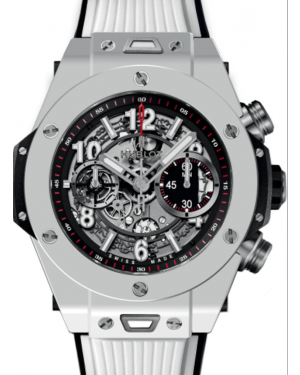 Hublot Big Bang Unico 411.HX.1170.RX Skeleton Arabic White Ceramic Case & Rubber 45mm BRAND NEW