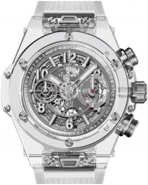Hublot Big Bang Unico 411.JX.4802.RT Skeleton Arabic White Ceramic Case & Rubber 45mm BRAND NEW