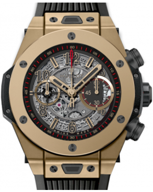 Hublot Big Bang Unico 411.MX.1138.RX Skeleton Arabic Yellow Gold Case & Rubber 45mm BRAND NEW