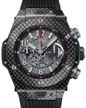 Hublot Big Bang Unico 411.QX.1170.RX Skeleton Arabic Carbon Fiber Case & Rubber 45mm BRAND NEW