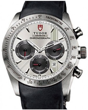 Tudor Fastrider Chronograph 42000 Silver Index Stainless Steel & Leather 42mm BRAND NEW
