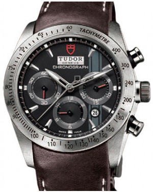 Tudor Fastrider Chronograph 42000 Black Index Stainless Steel & Leather 42mm BRAND NEW