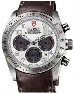 Tudor Fastrider Chronograph 42000 White Arabic Stainless Steel & Leather 42mm - BRAND NEW